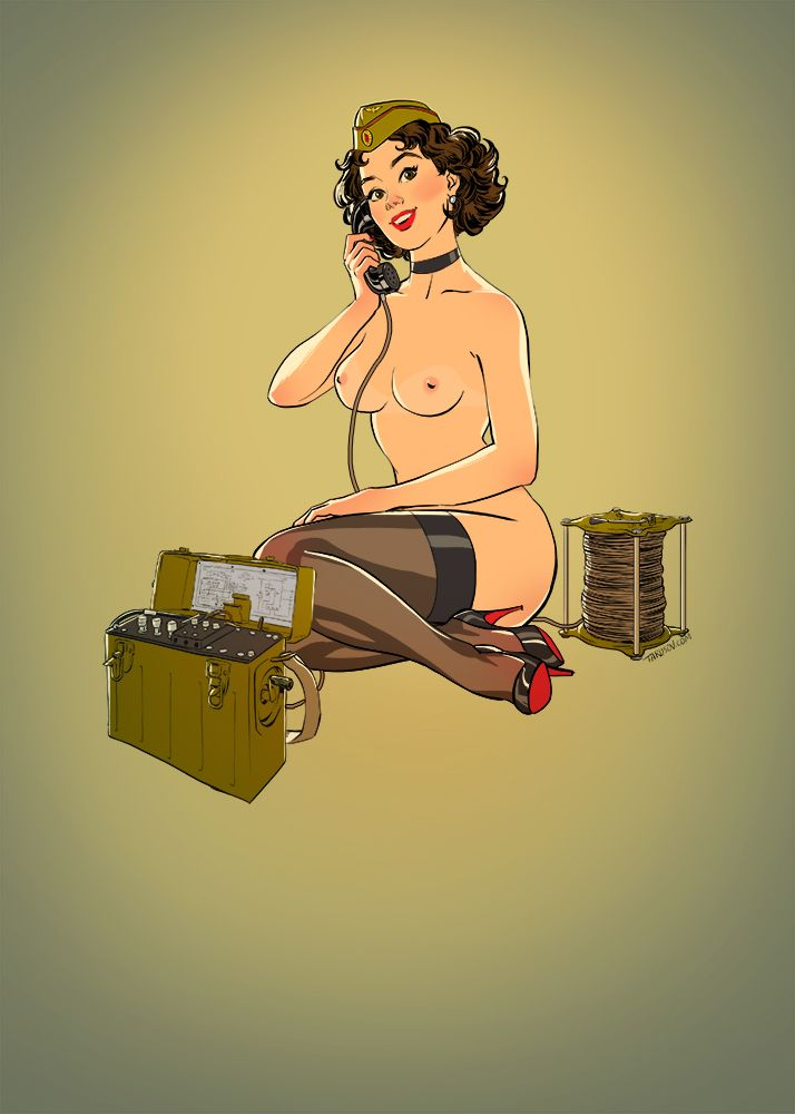 [Rule34] Army Girls Pinups (Tarusov) [Army]