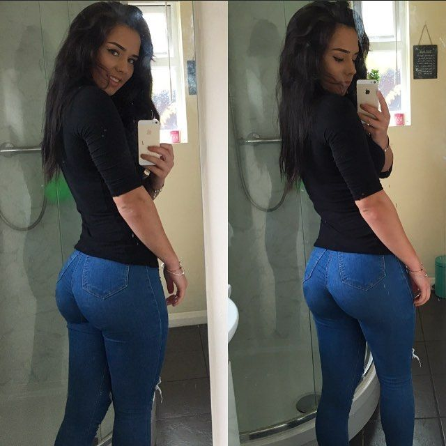 [Amateur Ass] Skin-tight jeans