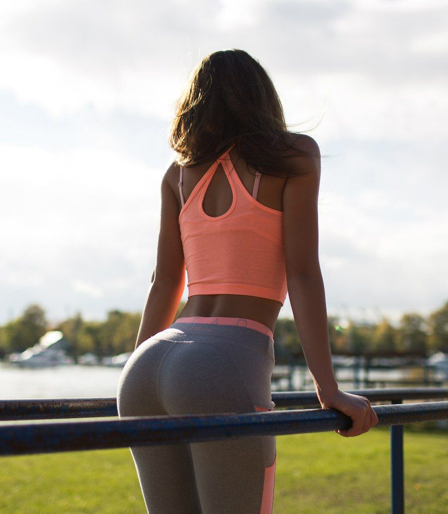 [Yoga Pants] Grey and peach