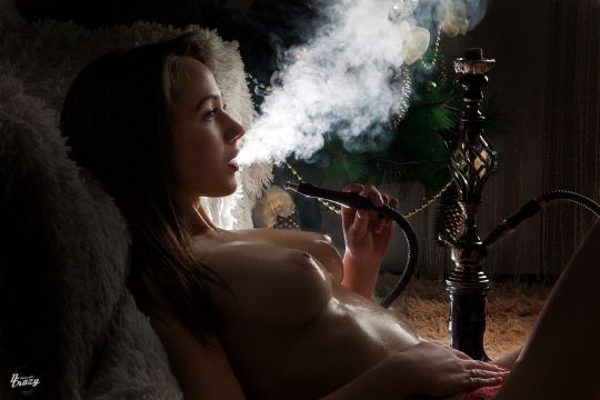 Hottie with a hookah