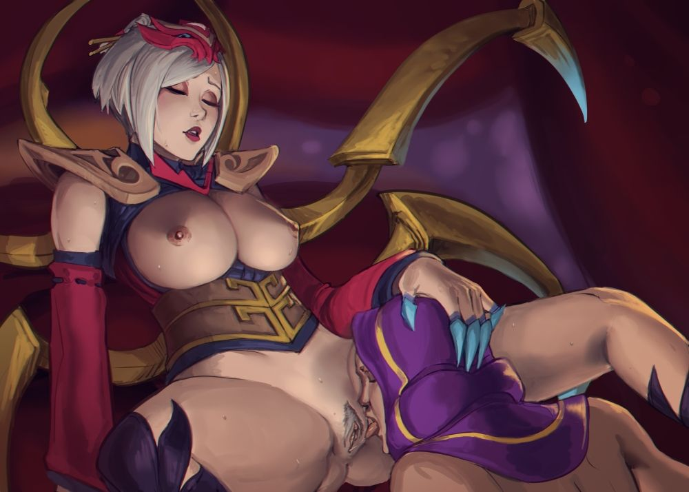 [League of Legends Rule34] Blood Moon Elise & Malzahar [Nesoun]