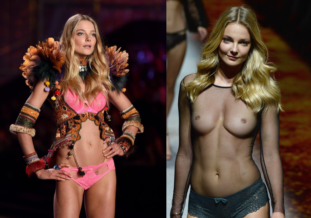 Eniko Mihalik On/Off on the runway (x-post from r/OnStageGW)