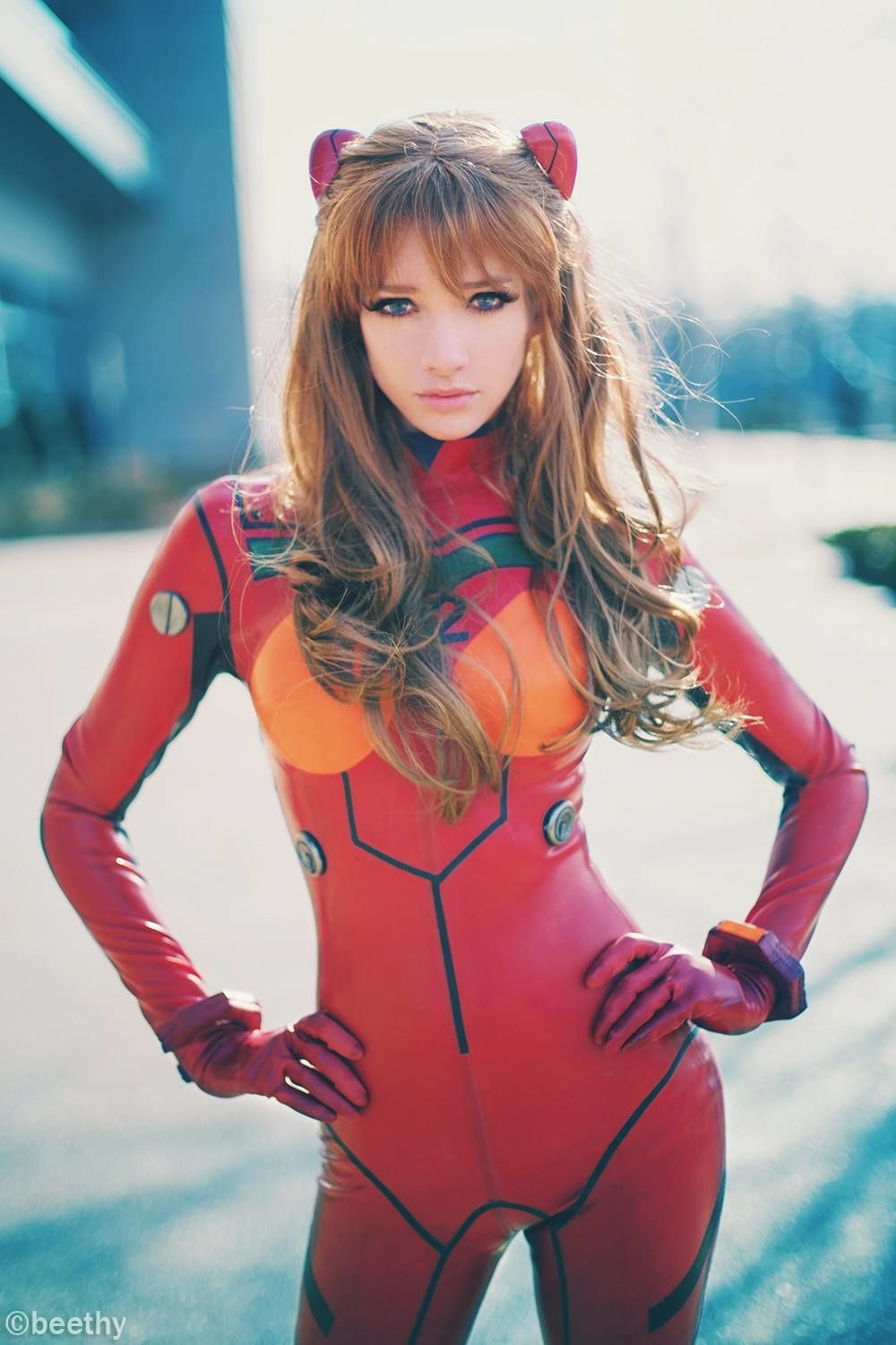 [Sexy Cosplay] Lyz Brickley as Plugsuit Asuka