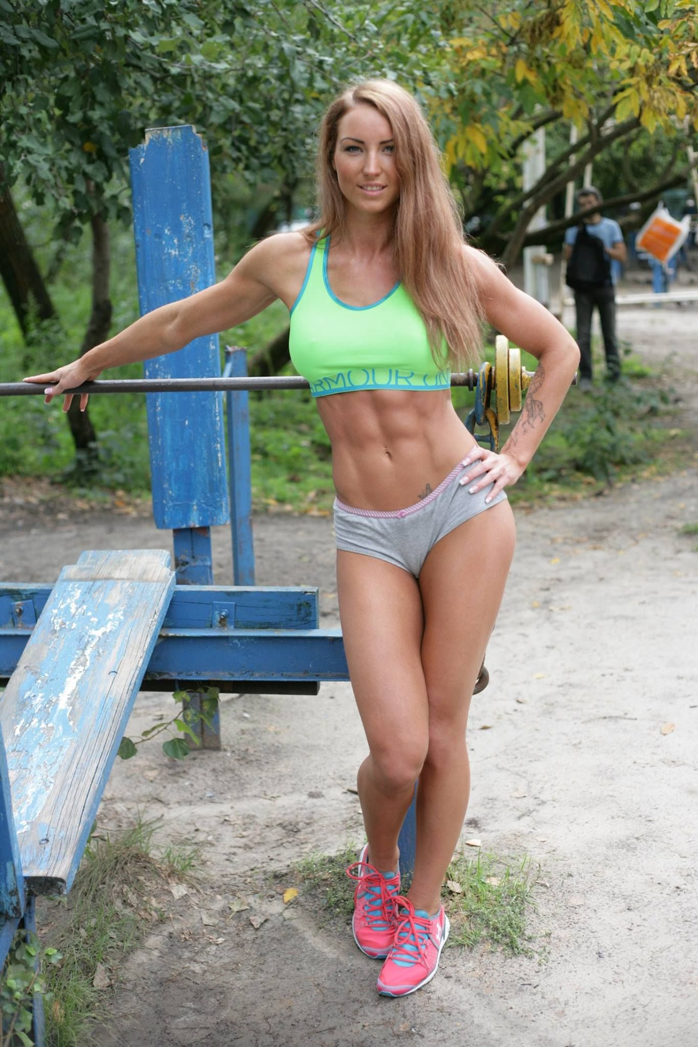 [Athletic Babes] Beautiful in the park