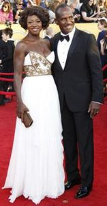 Event: Best-actress Oscar nominee Viola Davis and her husband, Julius