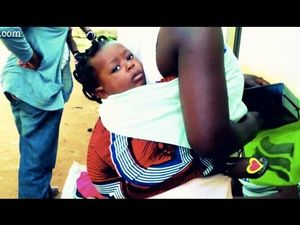 How-to carry your baby (African style!)  and if the baby falls u