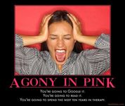 Agony in Pink | Know Your Meme