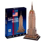 3D puzzle toy model of adult jigsaw puzzle painting gift Empire State