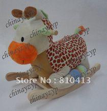 plush rocking horse chair giraffe musical rocker new wooden rockers