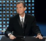 Dick Clark speaks after receiving a special Emmy tribute at the 58th