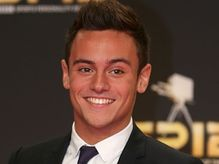 Tom Daley arriving for the Sports Personality of the Year Awards 2012