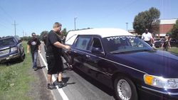 Hearse burnout for Tyler (Flip)  Street Outlaws  YouTube