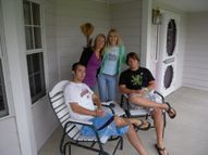 Classmate Brad's home after we had a goodnites rest ready to hit the