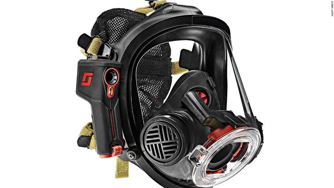 Firefighters' mask can see through flames