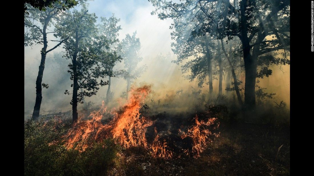 Wildfires rage in southern France - CNN Video