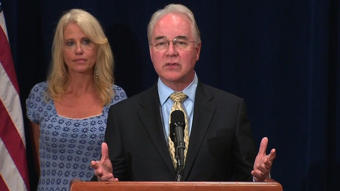 HHS Secretary Price: No business trips on private planes while matter is reviewed - CNN