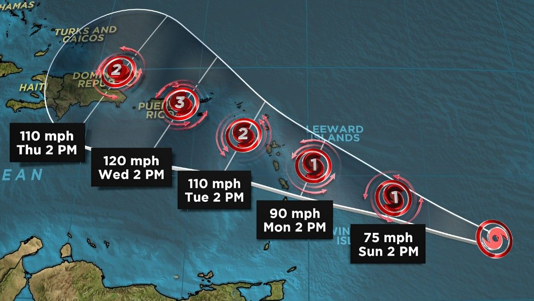 Maria prompts hurricane watch in Caribbean