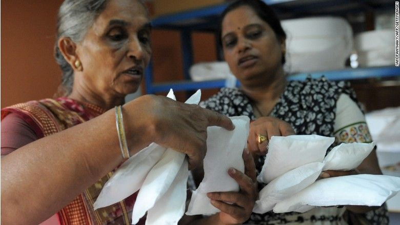 India's high tax on sanitary pads sparks protests