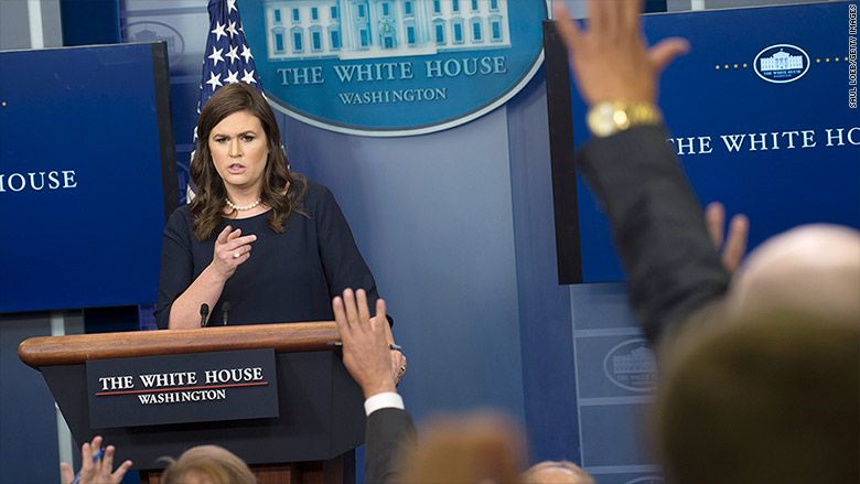 White House press briefing: Something different, then more of the same