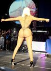 Previous Next Nicki Minaj wore a catsuit which was sheer from behind