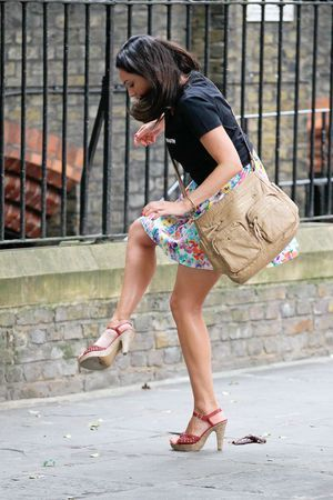 Kelly Brook Filming Taking Stock In London
