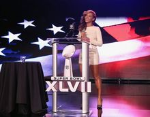 Beyonc� NAILS The National Anthem LIVE At SUPERBOWL Press Conference