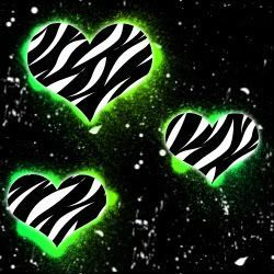 Neon Zebra Hearts Wallpaper | Neon Zebra Hearts Desktop Background