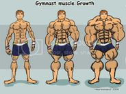 Gymnast muscle growth Image