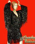 Transvestite Spectacular Fringe Drag Queen Long Sleeve Dress   eBay