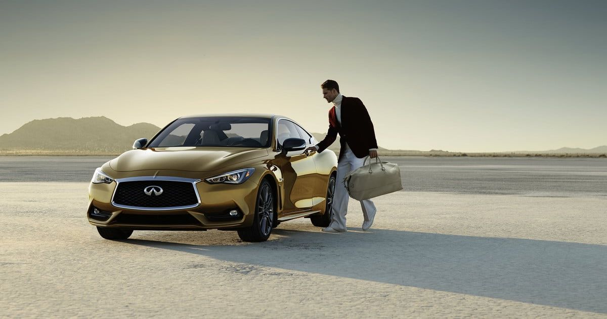 All that glitters: Gold Infiniti Q60 debuts for Neiman Marcus Christmas Book