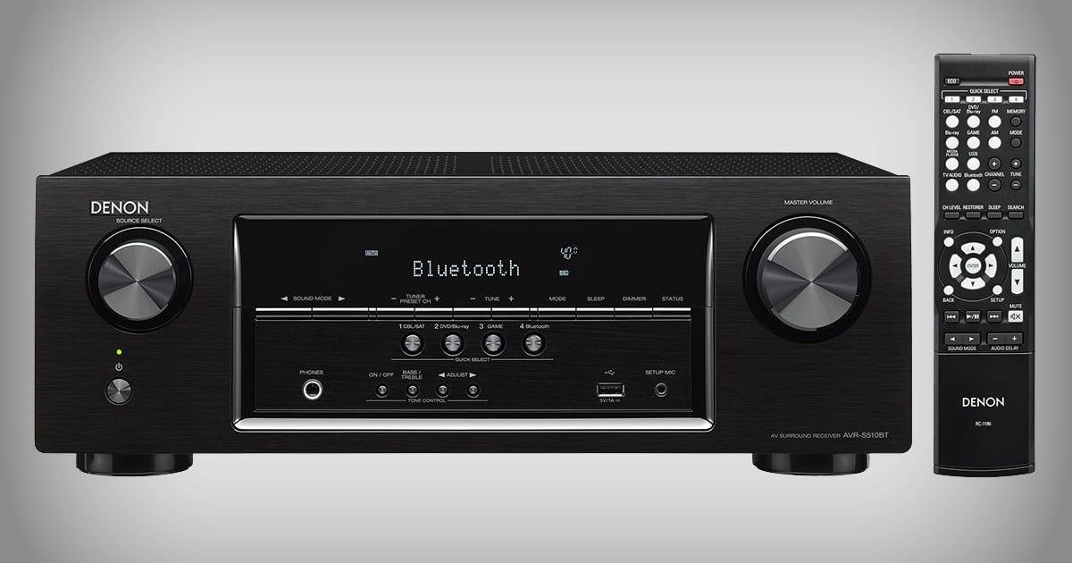 The Denon AVR-S510BT A/V receiver can be the heart of your home theater for $229