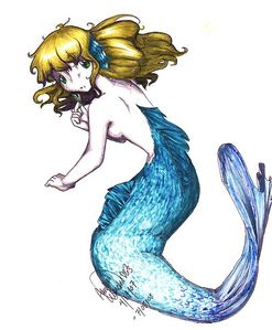 Amber Werden › Portfolio › Mermaid [Blank Background]