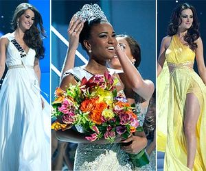 Miss Angola Leila Lopes, now Miss Universe 2011 (centre); first runner