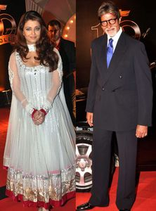 aishwarya rai bachchan and amitabh bachchan at apsara awards