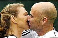 Agassi shows 'nude' image of wife Graf at auction - Rediff com Sports