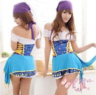 Wholesale Party Costume  Buy NEW! Female Pirates Caribbean Blue And