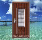 with small back door entry door  china security  Back Door Chyna