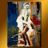 China Nude Women Group Painting, Abstract Canvas Art, Oil Painting