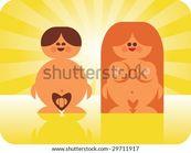 happy nudist couple enjoying the sunshine   stock vector