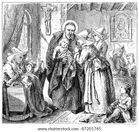 engravings  Depicts St  Vincent de Paul and the Daughters of Charity