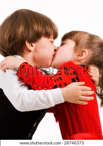 Sisters Kissing Bedroom