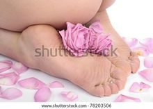 Female Feet With Flower Over White Stock Photo 78203506 : Shutterstock