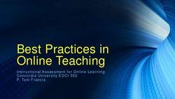 Toni francis week 3 best practices in online teaching