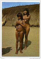 BRAZIL BRASIL INDIANS ETHNIC TYPICAL KAMAYUR�S TRIBE SEMI NUDE WOMEN