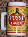 Tankards  Beer Mug Pussy Larger was sold for R45.00 on 26 Mar at 12