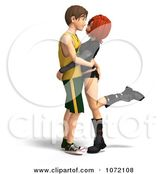 3d Teen Couple Embracing by