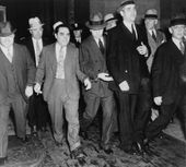 Charles Lucky Luciano In Center Photograph  Charles Lucky Luciano In