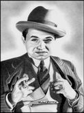 Edward G  Robinson Drawing by Michael Yacono  Edward G  Robinson Fine