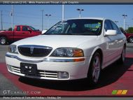 2002 Lincoln LS V6 in White Pearlescent Tricoat. Click to see large