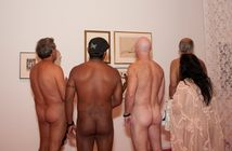 Nudist Club Attends Nude Art Exhibition, A Lot Of Nudity Ensues (NSFW
